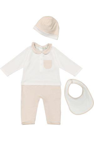 Fendi Homewear - Baby stretch-cotton onesie, bib and hat set