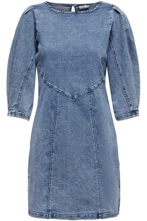 Only Puff Sleeve Denim Dress Dames