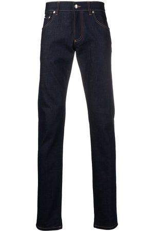 Dolce & Gabbana Heren Slim - Debossed logo jeans