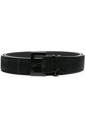 Saint Laurent Suede buckle belt