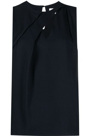 OFFICINE GENERALE Cut-out sleeveless blouse
