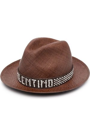 VALENTINO Logo-band straw hat