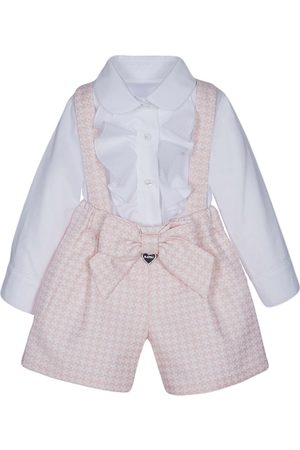 Lapin House Houndstooth-print overall seet