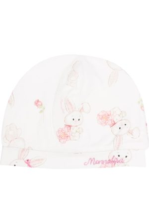 MONNALISA Bunny-print cotton cap