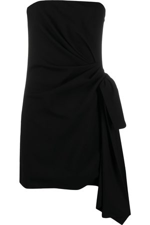 Saint Laurent Side-tie strapless dress
