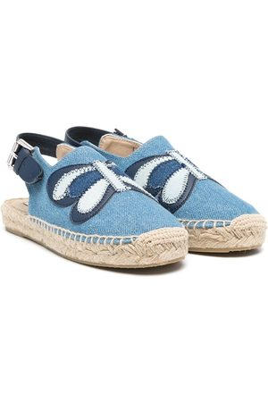 Stella McCartney Butterfly denim espadrilles