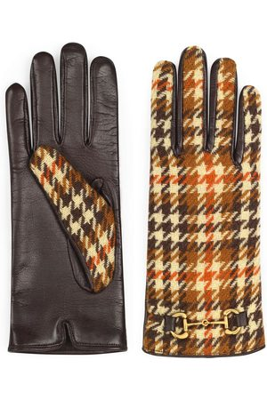 Gucci Houndstooth-pattern Horsebit gloves