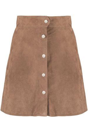 DESA 1972 A-line suede skirt