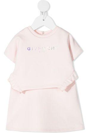 Givenchy Logo-print jersey A-line dress