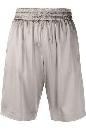 Fabiana Filippi Satin-finish drawstring-waist shorts