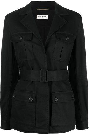 Saint Laurent Belted flap pocket jacket
