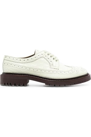 Burberry Perforated leather oxford shoes