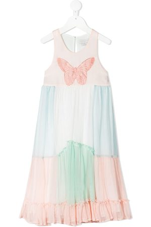 Stella McCartney Butterfly patch tiered dress