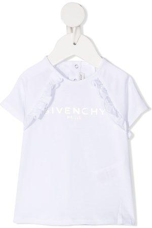 Givenchy Ruffle-detail cotton T-shirt