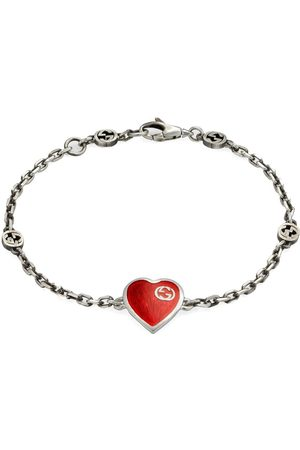 Gucci Heren Armbanden - Interlocking G heart bracelet