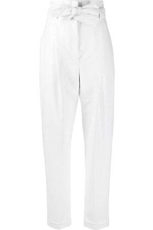 Serafini Croc-effect tapered trousers
