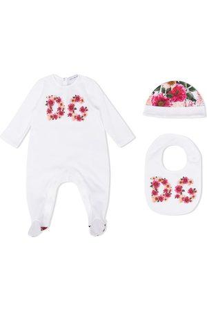Dolce & Gabbana Pyjama's - Floral logo pajama set