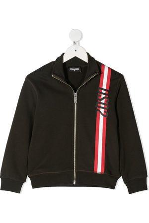 Dsquared2 Stripe detail zip-up sweatshirt
