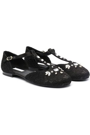 Dolce & Gabbana TEEN crystal-embellished ballerina shoes