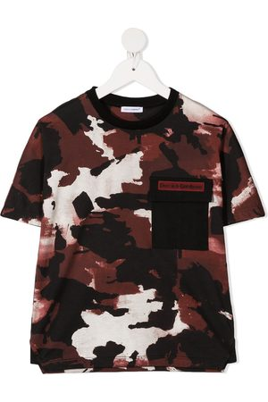 Dolce & Gabbana Camouflage chest pocket T-shirt