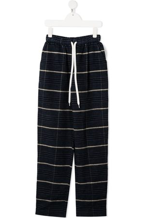DUOltd TEEN striped track pants with logo stripe detail