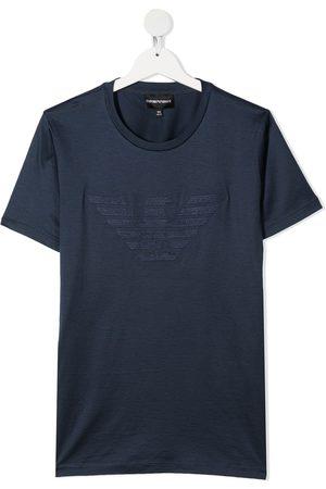 Emporio Armani TEEN logo print short-sleeved T-shirt