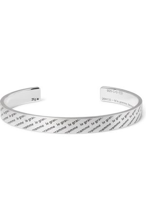 Le Gramme Heren Armbanden - Le 21 Logo-Engraved Brushed Sterling Cuff