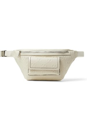 Gucci Heren Riemen - Logo-Embossed Perforated Leather Belt Bag