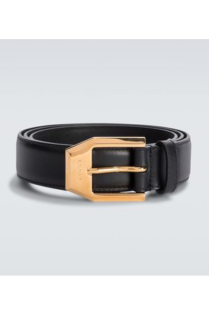 Gucci Heren Riemen - Leather belt with squared buckle