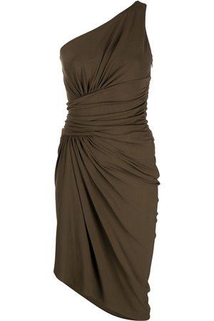ALEXANDRE VAUTHIER One-shoulder ruched midi dress