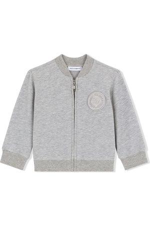 Dolce & Gabbana Logo-patch zip-up sweatshirt