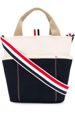 Thom Browne Logo strap tote bag