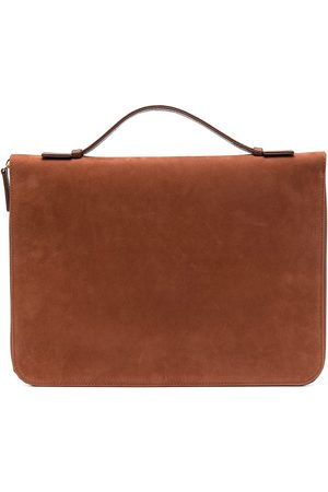 ELEVENTY Zipped deer skin laptop bag