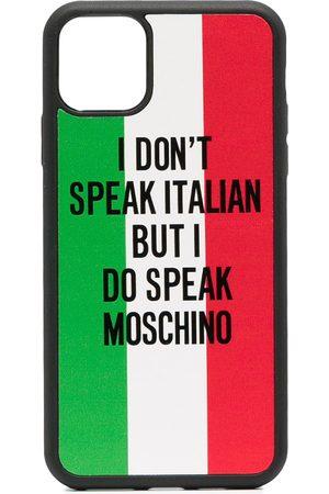 Moschino Slogan print iPhone 11 Pro Max case