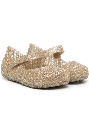 Mini Melissa Cut-out design ballerina shoes
