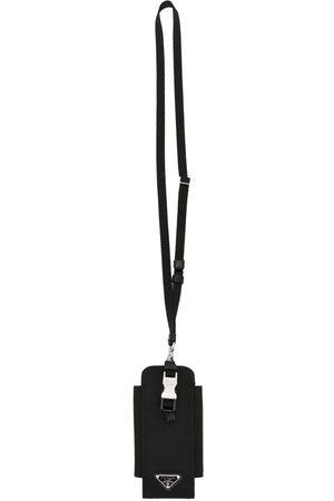 Prada Logo-plaque lanyard phone holder