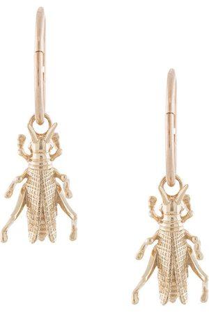 Karen Walker Grasshopper Sleepers hoop earrings