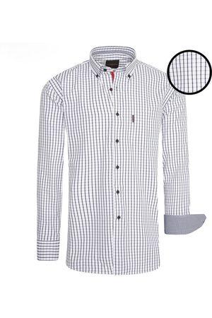 Cappuccino Italia Heren Overhemden - Heren overhemd – borstzakje – allover design –