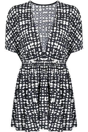 ERES Zebre abstract-print beach dress