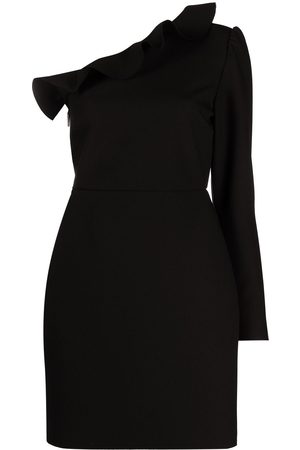 Msgm Ruffle detail one-shoulder dress