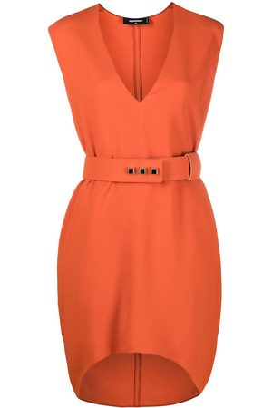 Dsquared2 V-neck belted dress