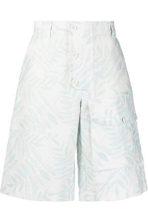 Jacquemus Laurier leaf-print cargo shorts