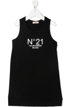 Nº21 Logo-print sleeveless midi dress