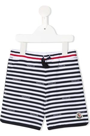 Moncler Stripe-print cotton shorts