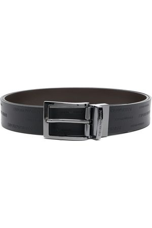 Emporio Armani Buckle-fastening leather belt