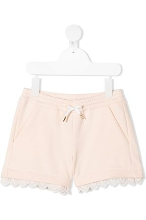 Chloé Embroidered trim shorts