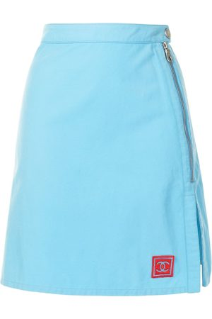 CHANEL 2002 Sports side slits A-line skirt