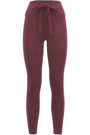 YEAR OF OURS Dames Leggings - Heather Active Jersey Tie Leggings