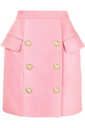 Balmain Dames Korte rokken - Button-detail mini skirt