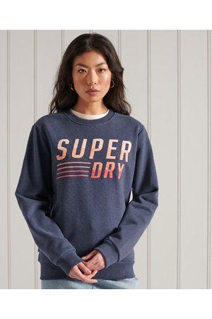 Superdry Dames Sweaters - Standaard Fade sweatshirt met ronde hals en borduursel